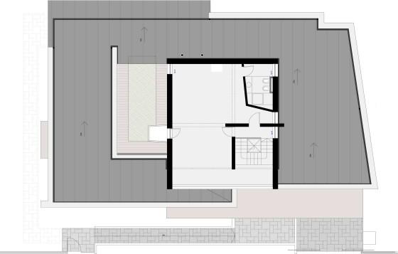 Plano de planta de casa de dos pisos moderna