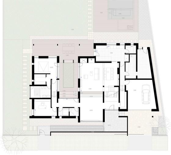 Planos de casa moderna de dos pisos en terreno grande