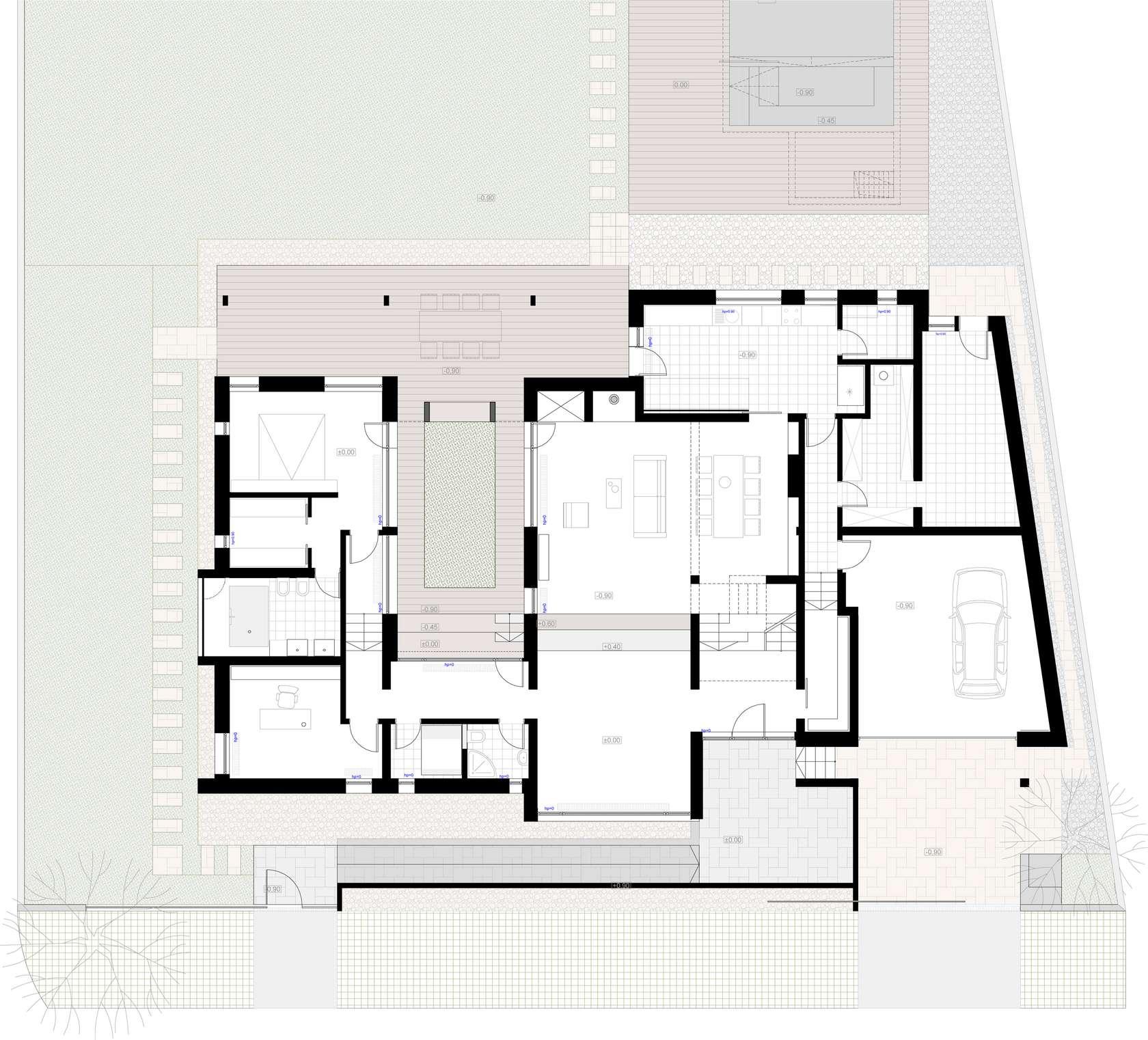 Dise o de casa moderna de dos pisos fachadas y planos for Planos para casas de dos pisos modernas