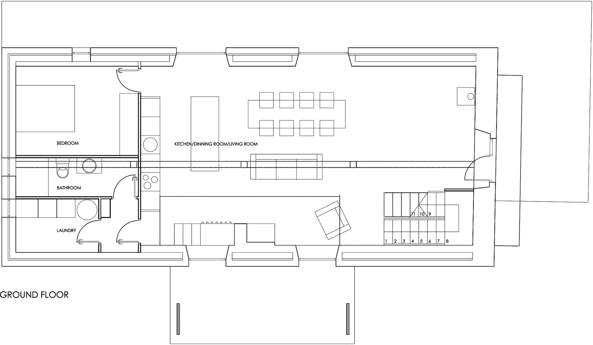 Planos de casa peque a de piedra construye hogar for Diseno de oficinas pequenas planos
