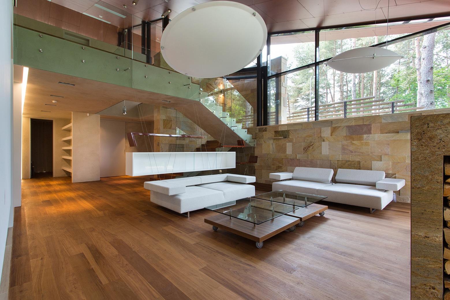 Casa de campo con planos dise o de fachada e interiores for Decoracion de techos de salas