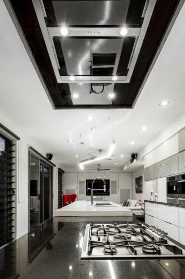 Decoración e iluminación de interiores de cocina moderna