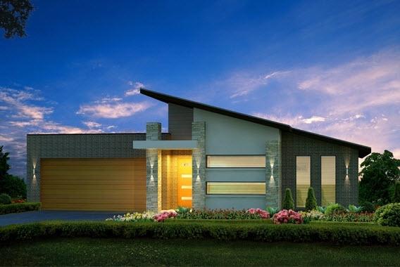 10 dise os de casas de una planta construye hogar for Casa moderna un piso