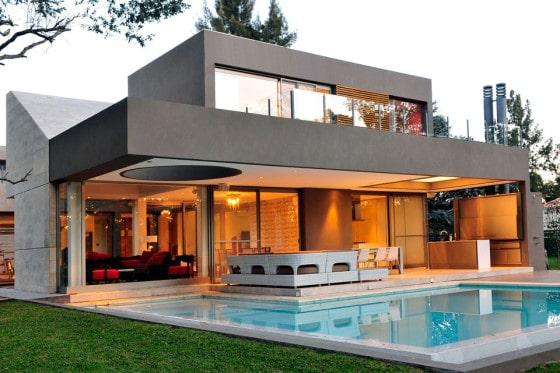 Planos de casa moderna de dos plantas fachada e for Disenos de casas de 2 plantas