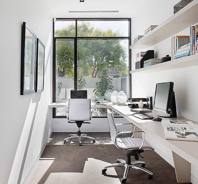 Dise o de casa moderna en esquina fachada e interiores for Escritorios de diseno para casa