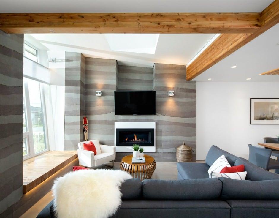 Fachada de casa moderna de dos pisos y dise o de - Diseno de interiores bilbao ...