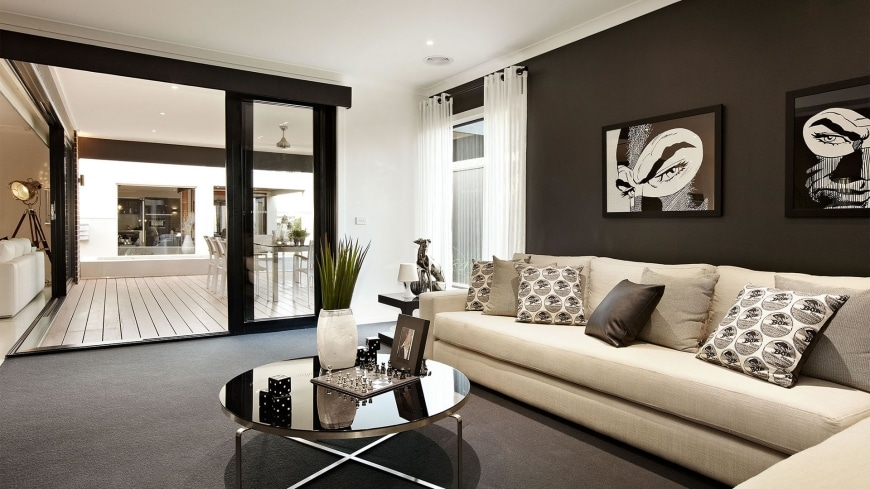 Dise o de casa de una planta con planos y fachadas for Decoracion interiores salas pequenas