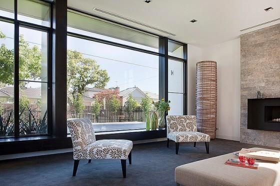Diseño de sillones  en casa moderna