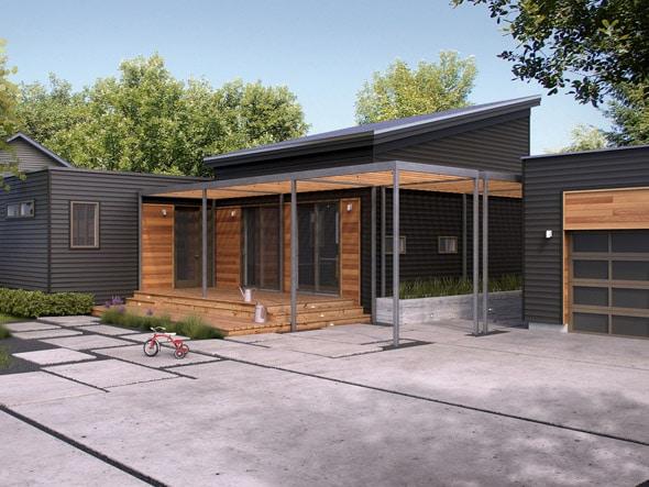 10 dise os de casas de una planta construye hogar - Fachadas de casas de un piso ...