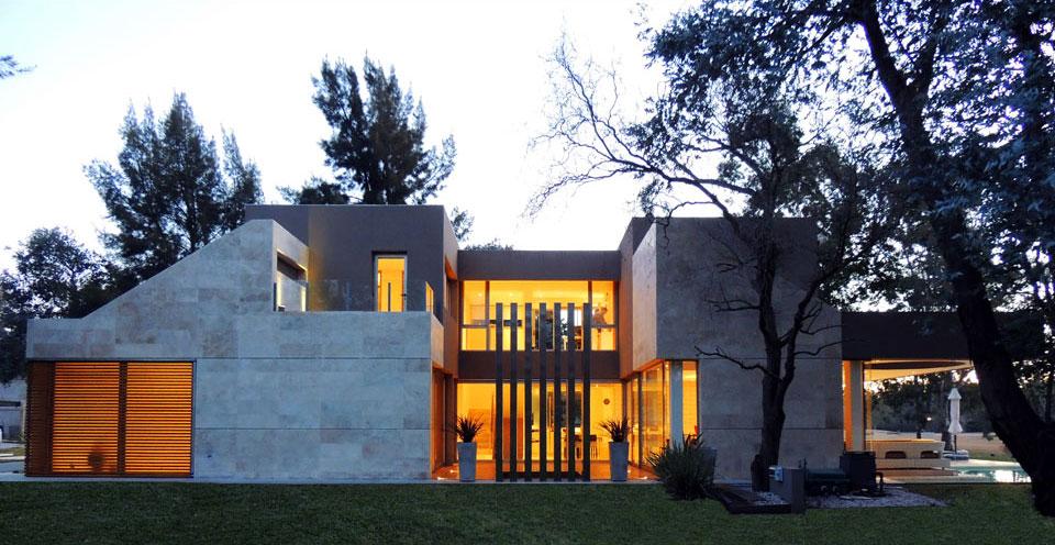 Planos de casa moderna de dos plantas fachada e for Casa moderna fachada