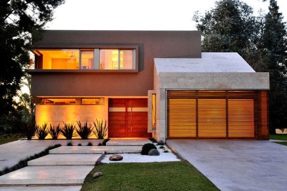 Planos de casa moderna de dos plantas fachada e for La casa moderna