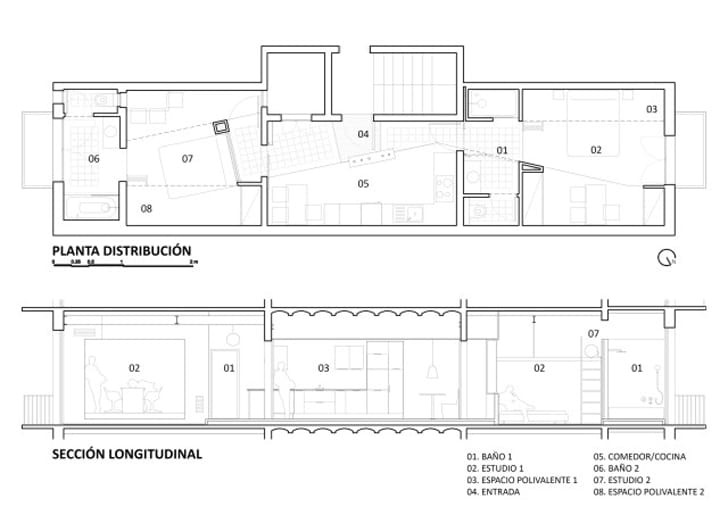 Planos de departamento 2 dormitorios construye hogar for Plano departamento 2 dormitorios