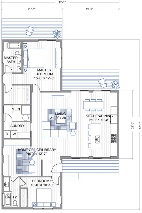 10 dise os de casas de una planta construye hogar for Planos para remodelar mi casa