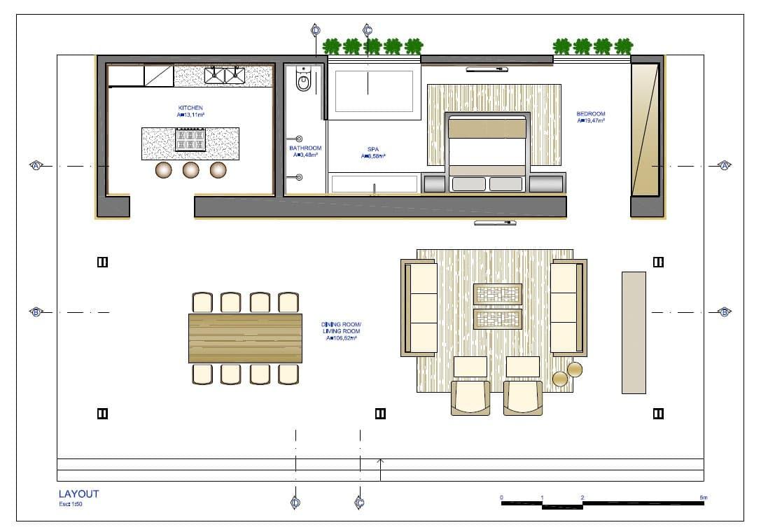 10 dise os de casas de una planta construye hogar for Planos cocina integral