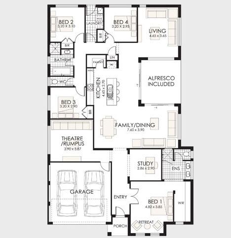 10 dise os de casas de una planta construye hogar for Planos de casas 1 planta