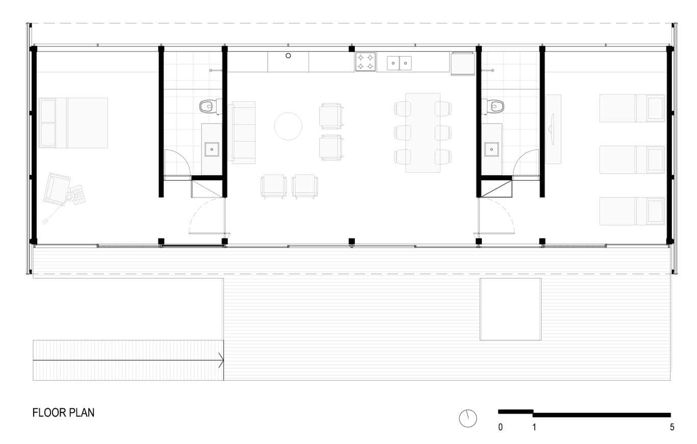 Dise o de casa peque a moderna fachadas y planos for Planos para construccion casas pequenas
