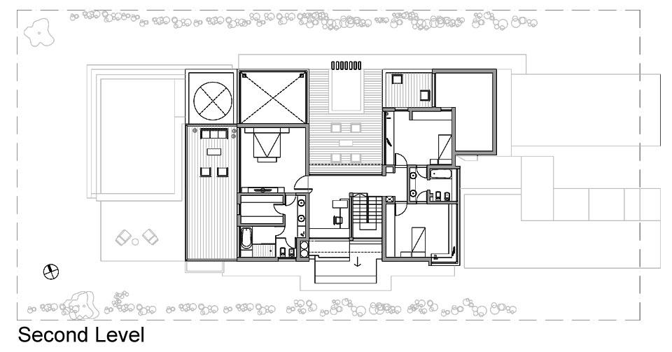 Planos de casa moderna de dos plantas fachada e for Fachadas de casas para segunda planta