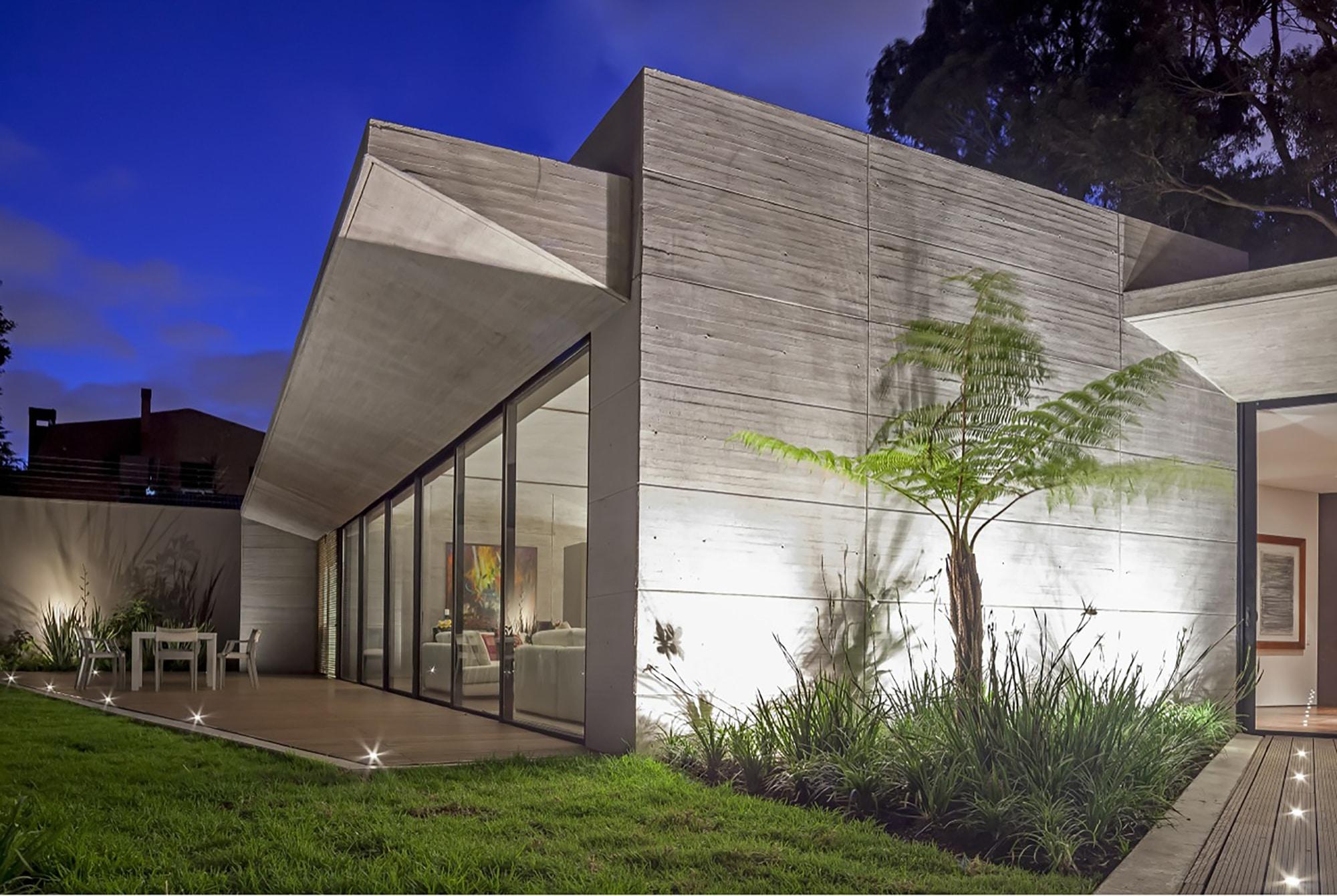 Moderno dise o casa de un piso con planos construye hogar for Casas modernas hormigon visto
