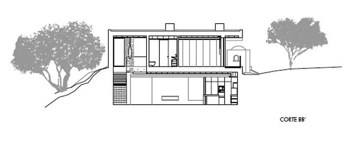 Moderna casa de dos plantas con piscina en azotea for Casa moderna 2 plantas