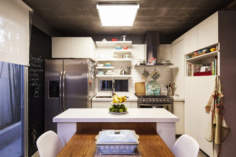 Planos de casa en forma de l dise o construye hogar - Cocina con isla pequena ...