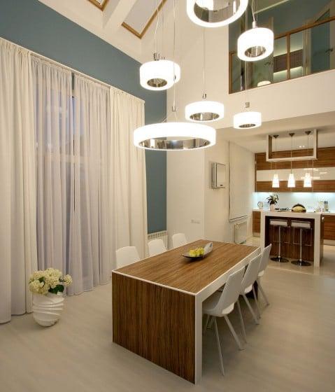 Dise o casa moderna dos plantas y planos construye hogar - Modelos de lamparas de techo para cocina ...
