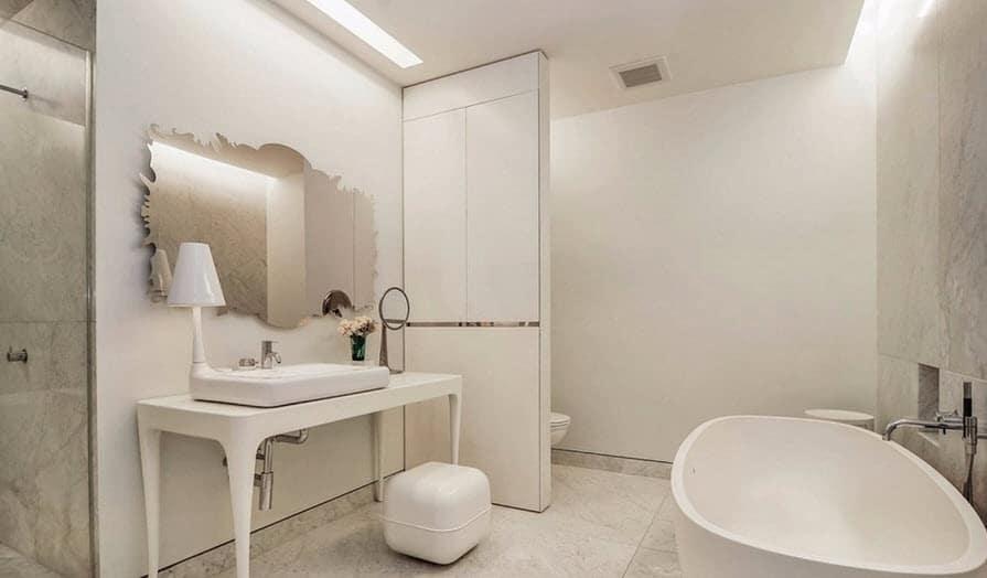 Diseno De Baño Rectangular:Diseño de cuarto de baño moderno de departamento