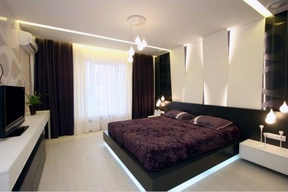 Diseño de dormitorio principal moderno