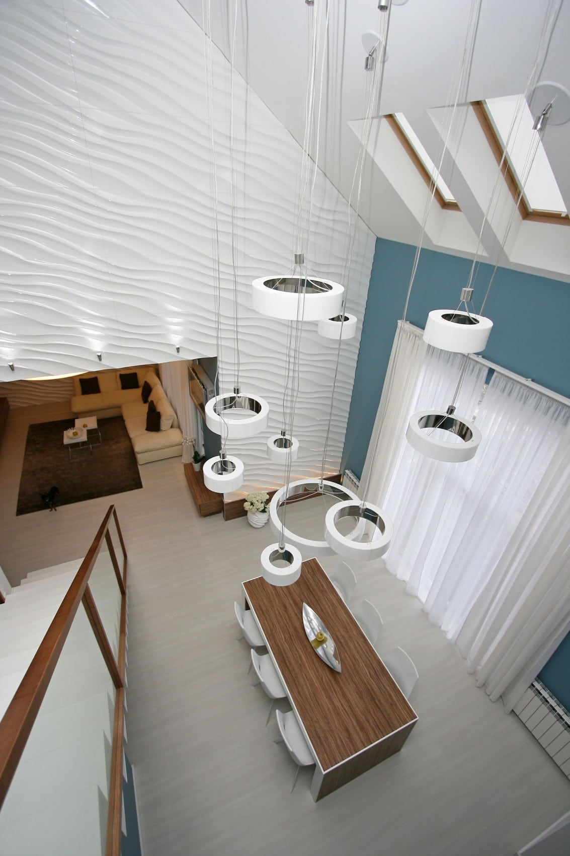 Dise o casa moderna dos plantas y planos construye hogar - Lamparas de comedor de diseno ...