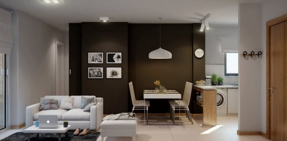 Diseño de moderno apartamento pequeño