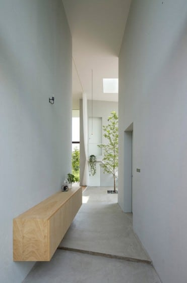 Diseño de pasadizo con pisos de concreto pulido