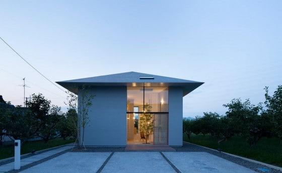Fachada de casa estilo oriental