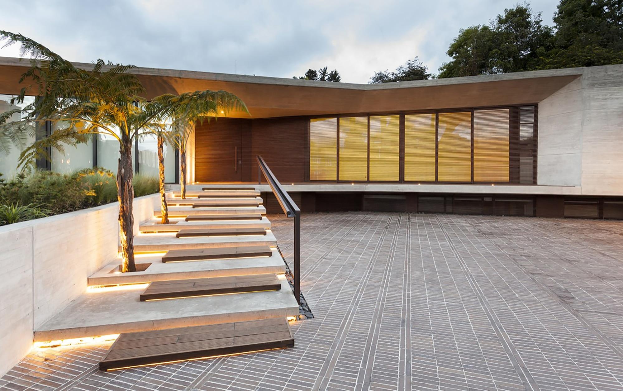 Moderno dise o casa de un piso con planos construye hogar for Casa moderna de un piso grande
