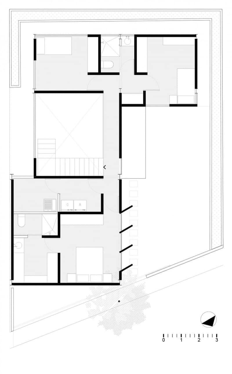 Planos de casa en forma de l dise o construye hogar for Planos para segundo piso