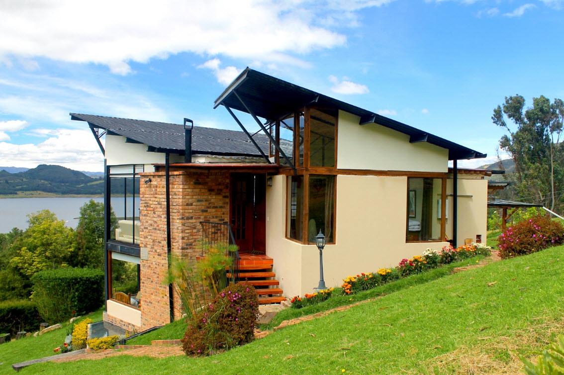 Casa de campo moderna de dos pisos planos construye hogar - Diseno casas de campo ...