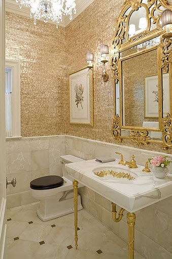 white and gold bathroom ideas dise 241 o de cuarto de ba 241 o peque 241 os y medianos construye hogar 24601