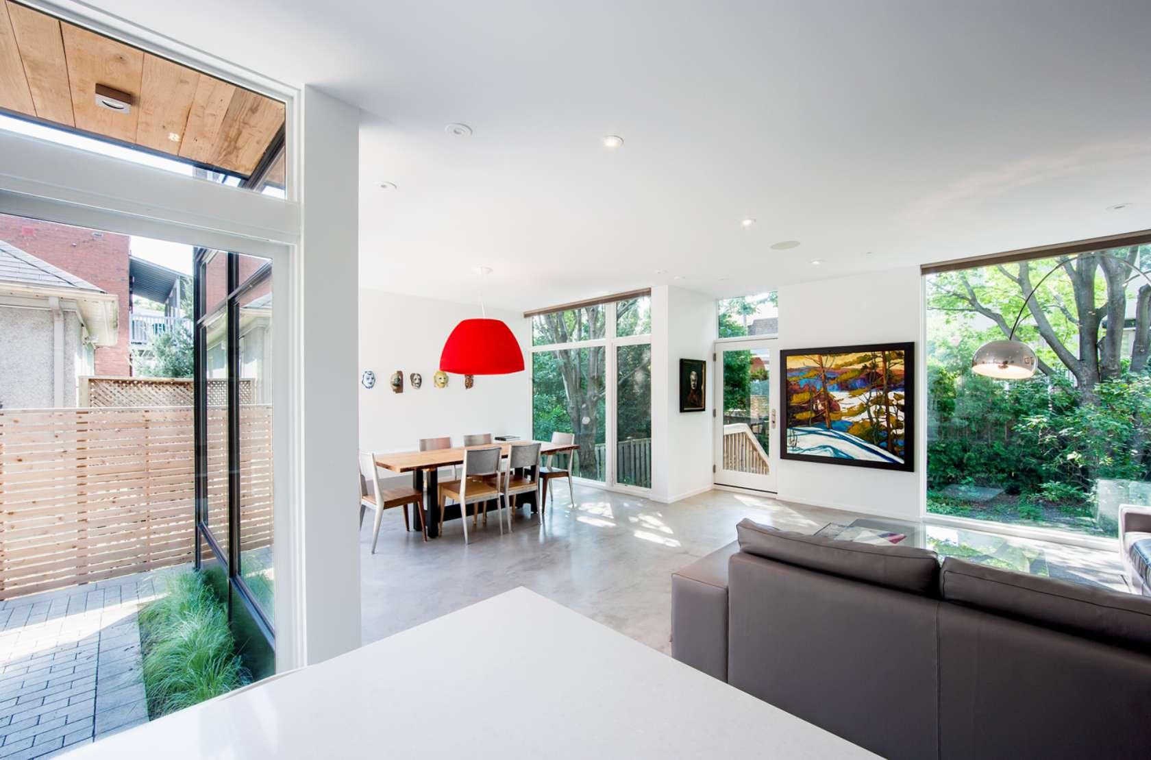 Dise o de casa de dos plantas en esquina fachada e interior for Decoracion interior de casas minimalistas
